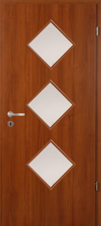 Dió üveges bejárati ajtó